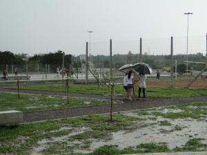 Chuva inviabilizou a realização do ato de inauguração